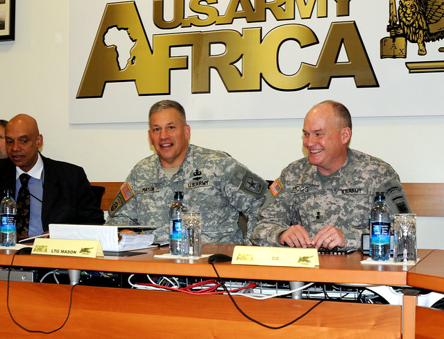 U.S. Army's top logistician makes command visit to Army Africa