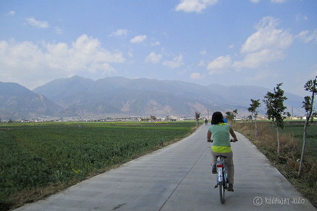 Cycling around Erhai Lake