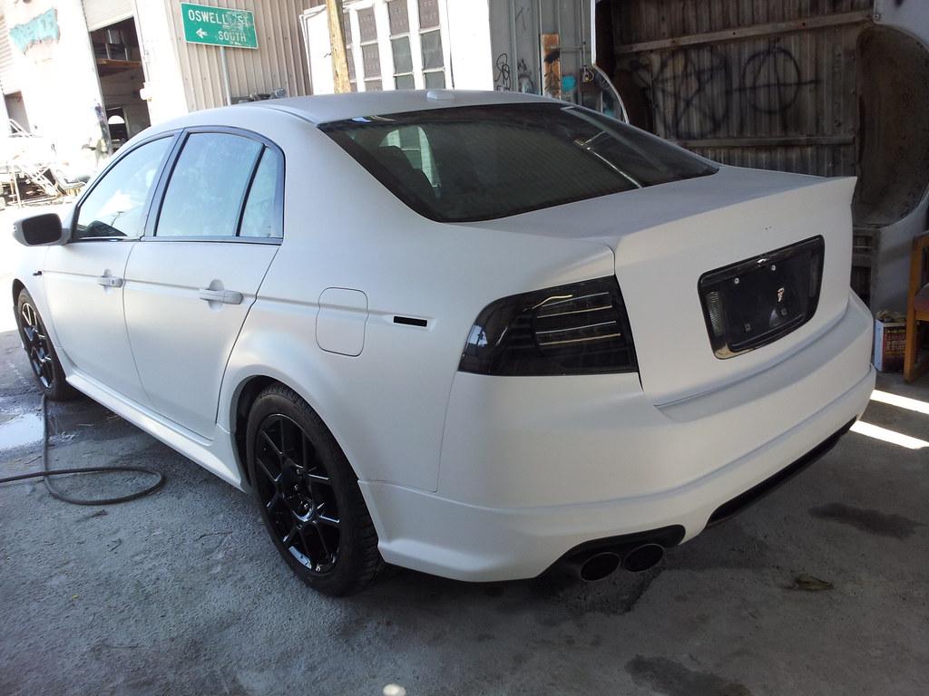 Think FlatMatte white Acura TL Type S Now imagine it
