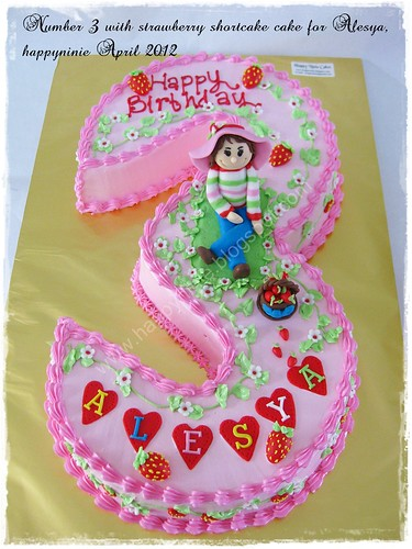NUmber 3 cake for ALesya