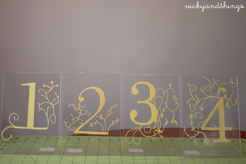 Paper cut table numbers