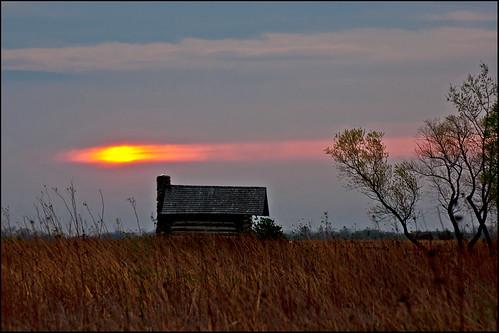 illinois cabin day cloudy logcabin gooselakeprairie