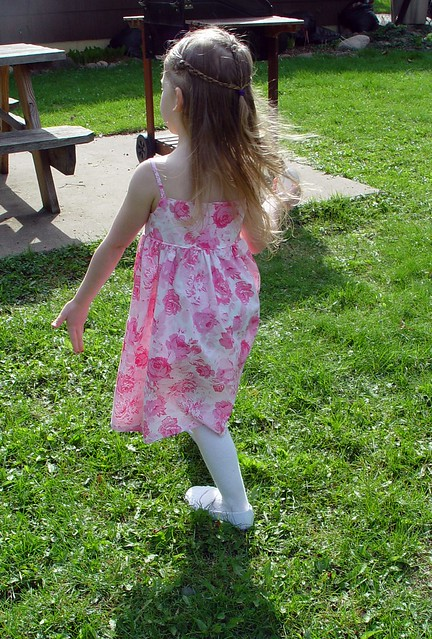 back view, Easter dress