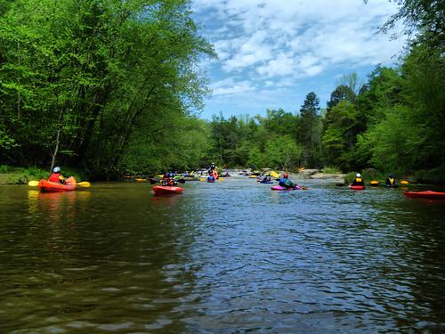 Crowd of Kayaks