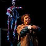Delance Minefee (George's Ghost) and Jacqui Parker (Elizabeth Keckely) in the Hunting Theatre Company's production of Paula Vogel's A CIVIL WAR CHRISTMAS: AN AMERICAN MUSICAL CELEBRATION at the BU Theatre. Part of the 2009-2010 season.