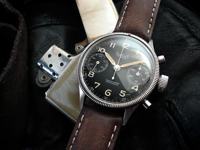 Hanhart 417es flyback flieger mcqueen heuerville for Mcqueen watches