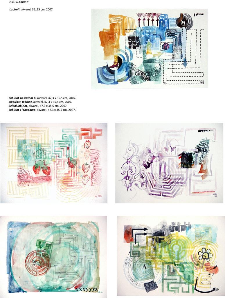 14. Labirinti, akvareli