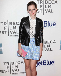 Emma Watson Clashing Prints Celebrity Style Women's Fashion