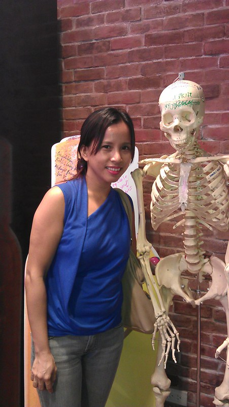 with Mr. Bones at Kiehl's Trinoma
