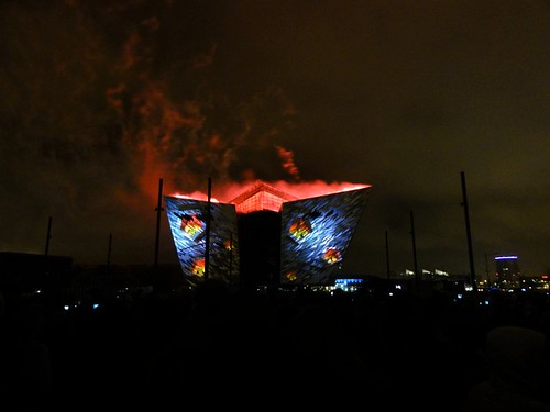 Titanic Belfast Light Show 06