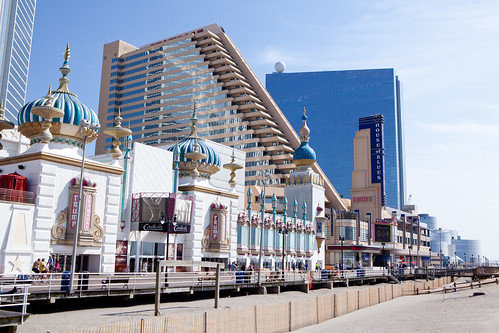 The hotels along the Boardwalk
