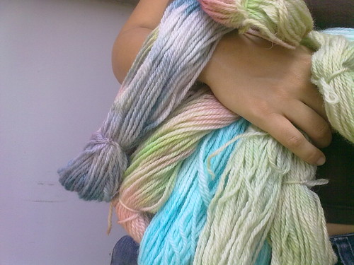 Tiñiendo lanas
