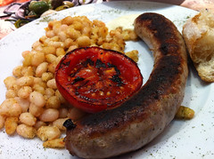 sausage(1.0), italian sausage(1.0), vienna sausage(1.0), boudin(1.0), food(1.0), full breakfast(1.0), dish(1.0), weisswurst(1.0), cuisine(1.0), breakfast sausage(1.0), kielbasa(1.0), bratwurst(1.0),