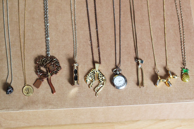 quirky charm necklaces