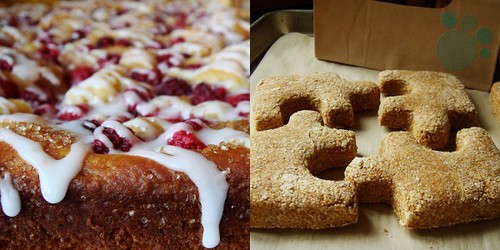 Raspberry Kuchen & Dog Biscuits