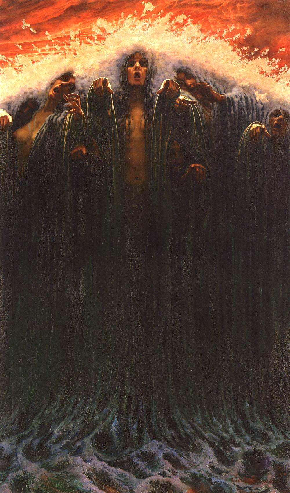 Carlos Schwabe - The Wave, 1907