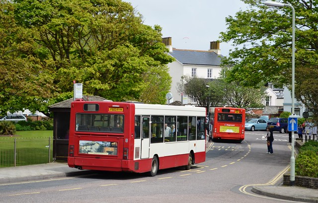 Buses From Sidmouth Triangle To Rild Building Barrack Road