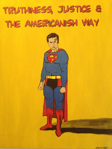 Stephen Colbert Superman painting