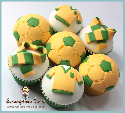 Norwich City Football Fan Cupcakes by Scrumptious Buns (Samantha)