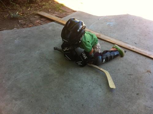 Ezra's goalie position