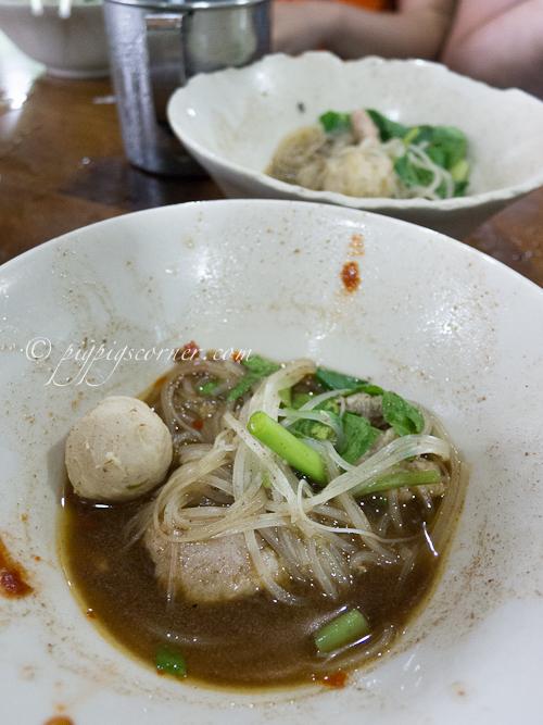 Pork Boat noodles, Victory monument, Bangkok