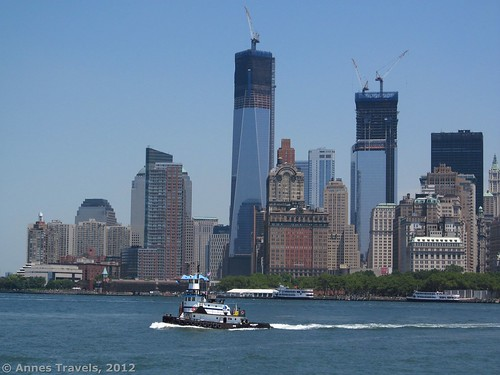 A tug and the New York Skyline from the Staten Island Ferry