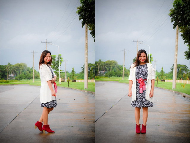 denise katipunera, mommy style, red boots,