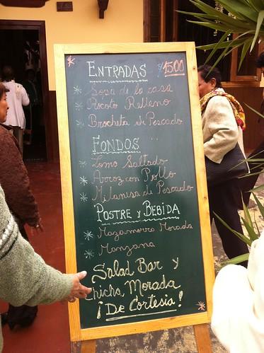 Lima (Perú) | Restaurante El Embrujo | Menú