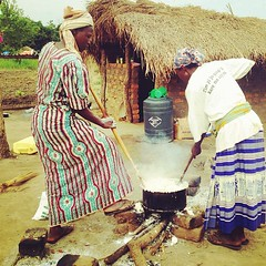 Stirring the rice. It's amazing to watch.
