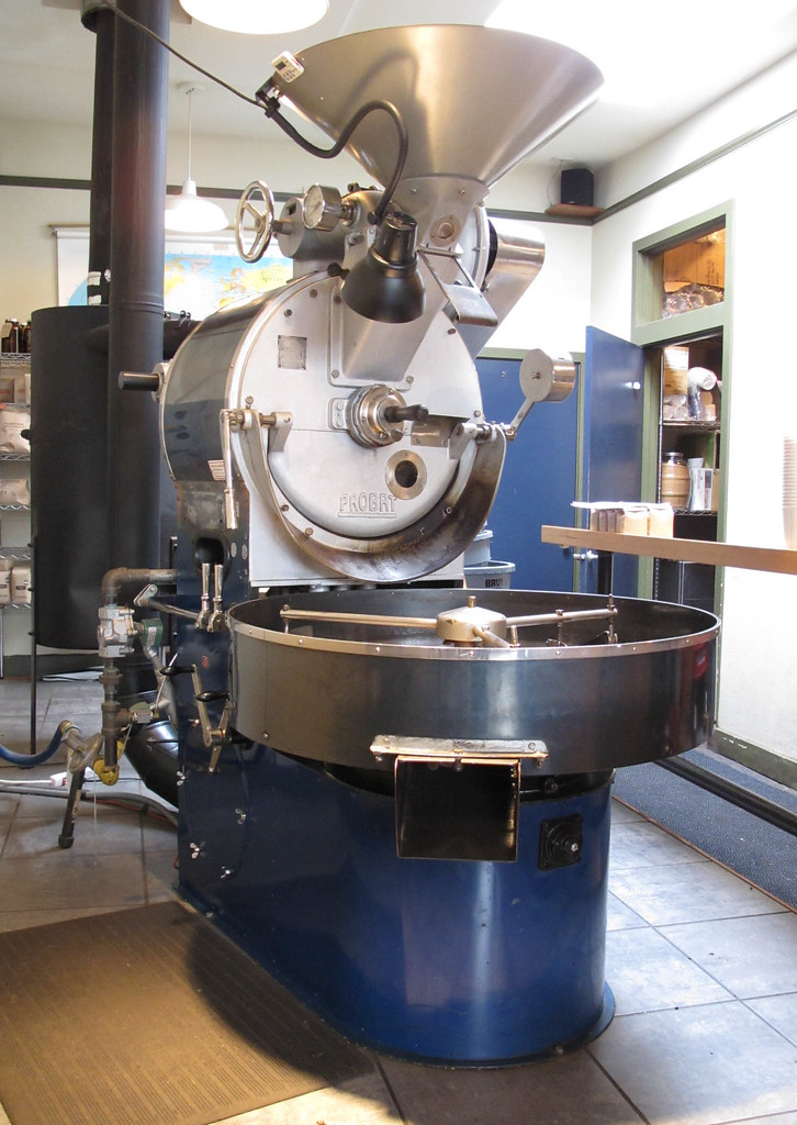 Probat Coffee Roaster at Stumptown Coffee Roasters