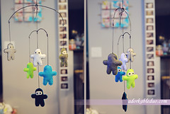 DIY hanging mobile frame for nursery