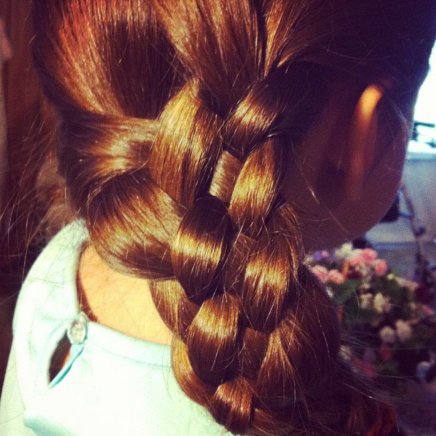 Practicing my 5 strand braid. Far from perfect yet, but practice makes perfect, right?!?! #hair