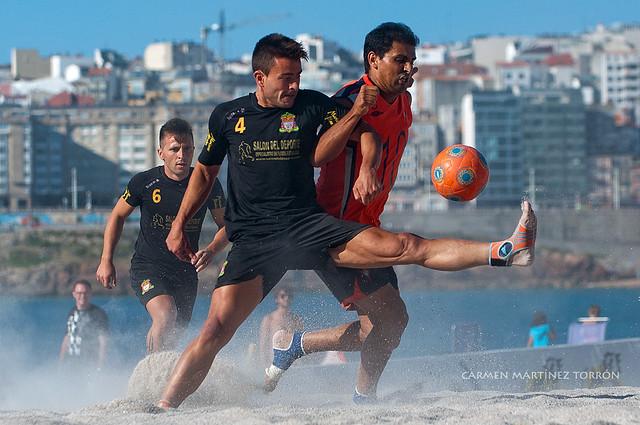 Campeonato de España de Fútbol Playa - La Coruña 2012. Fotografías Carmen Martínez Torrón