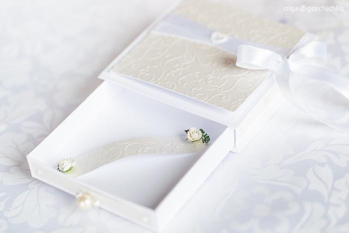 Свадебная коробочка для денежного подарка