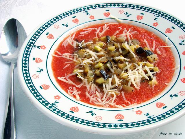 томатный суп летний