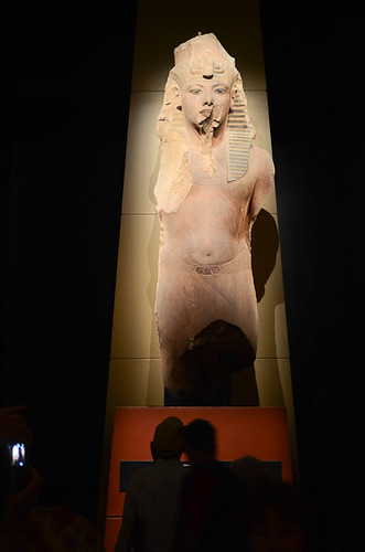 A statue form the King Tut Exhibit.