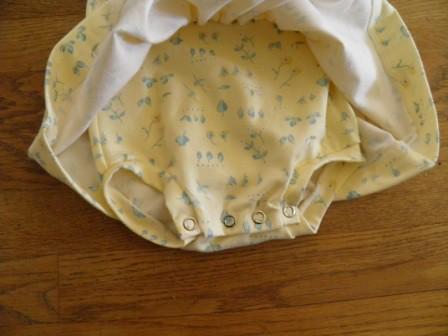 Onesie under skirt