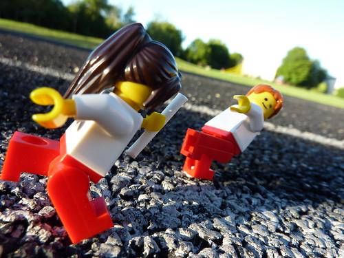 Olympic relay handoff by Dr. Mark Kubert