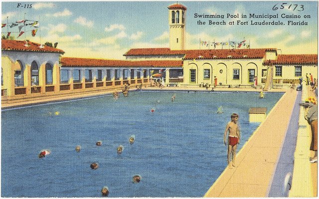 Swimming Pool In Municipal Casino On The Beach At Fort Lauderdale Florida Flickr Photo Sharing