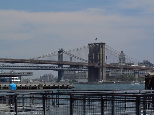 Walking along the East River Esplanade, Manhattan, New York City