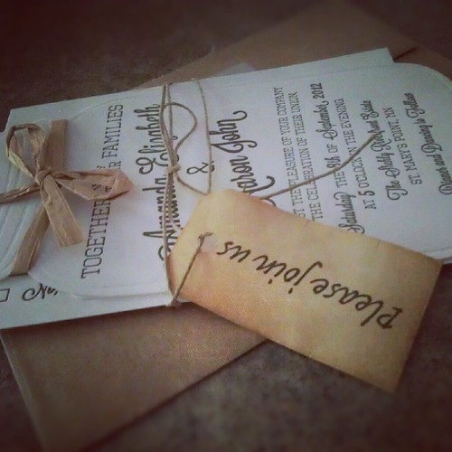 Amanda + Aaron's Wedding Invites by makerofrad