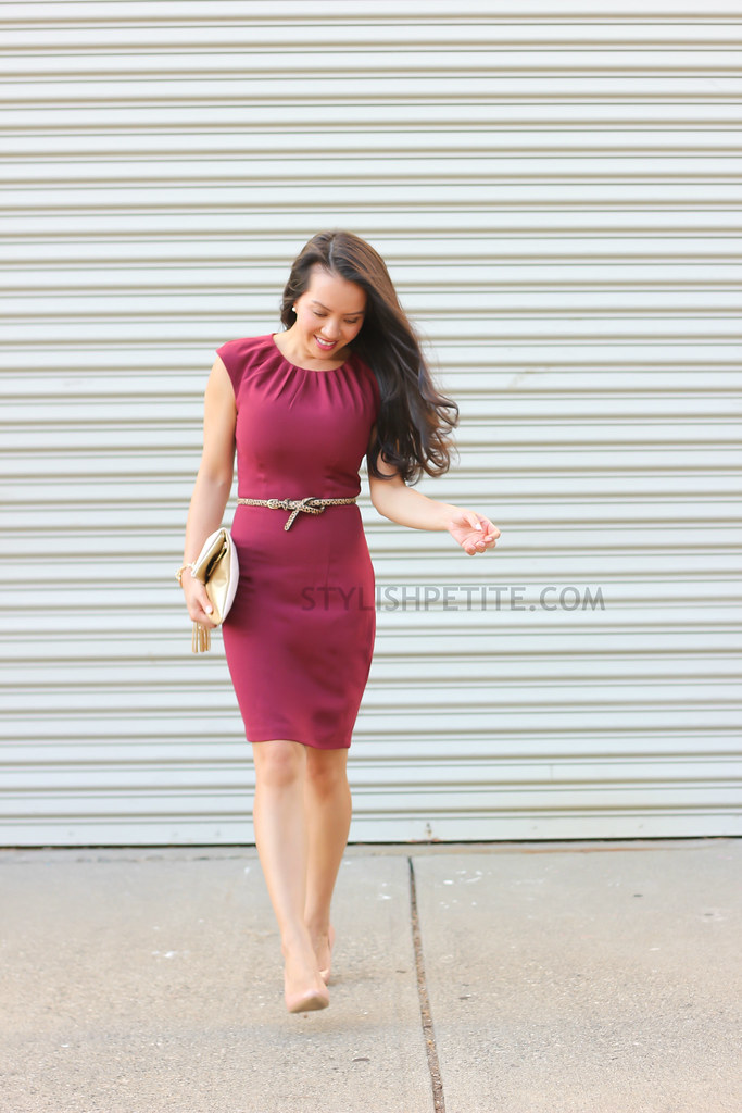 Burgundy Dress And Shoes