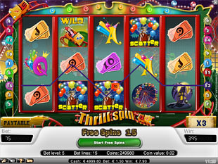 Thrill Spin bonus game