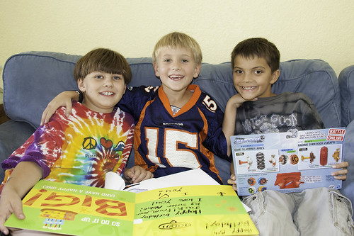 Jack and his buddies on his 8th birthday