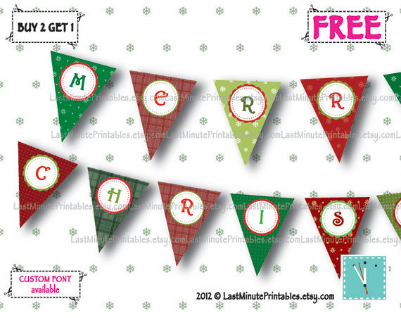 Holiday banner, christmas template, Christmas decal, christmas stencil, christmas lot, christmas bunting, banner bunting, bunting clipart 01a