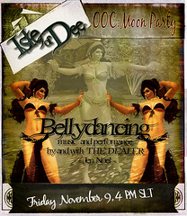 "Bellydancing. Performance and Music by and with Jen Noel "" The Dealer"" - nov 2012 , Isle of Dee, Secondlife"