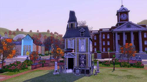 haunted house autumn