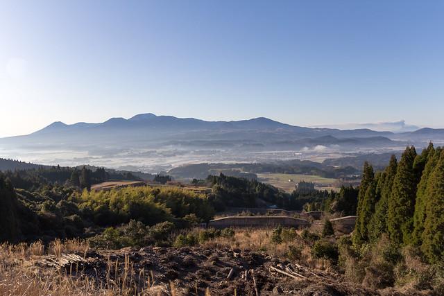霧島連峰と桜島