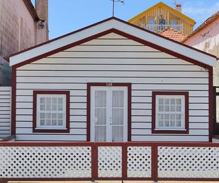 Traditional house on Costa Nova, Aveiro, Portugal