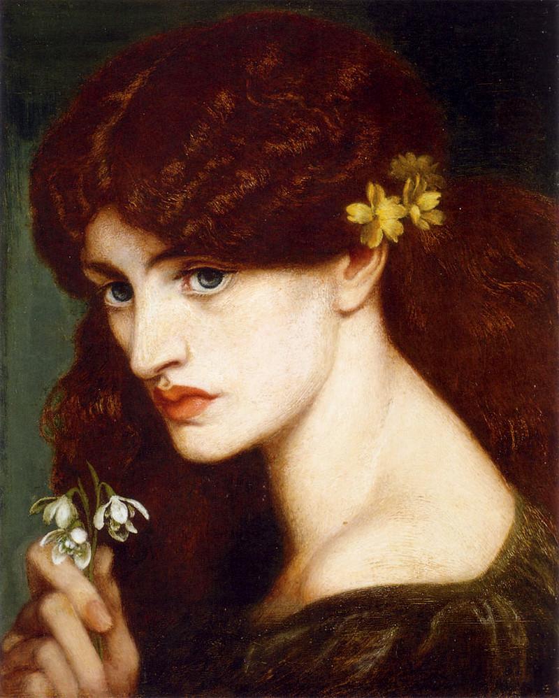 Snowdrops by Dante Gabriel Rossetti - 1873